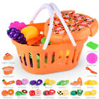 Finer Shop 24pcs Plastikfrucht Gemüse Küche Cutting Toy Pretend Play Kinder