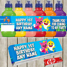x7 Baby Shark Personalised Self Adhesive Fruitshoot KitKat Label Birthday Party