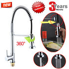 NEW Chrome Kitchen Sink Mixer Tap Silver Faucet 360 Degree Swivel Pull Out Hose