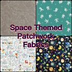 Makower & Nutex Galaxy Astronaut Space Planet Stars 100% Cotton Patchwork Fabric