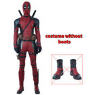 Deadpool 2 Mens Cosplay Costume Jumpsuit Red Halloween Full Set Custom made New