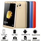 """5.0"""" Unlocked Android 7.0 3g Smartphone S9 Mobile Cell Phone Dual Sim Quad Core"""