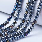 """10 strand Pick Color 16.14"""" Electroplate Opaque Faceted Rocaille Glass Bead 8mm"""