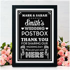 WEDDING CARDS & GIFTS POST BOX Sign Vintage Chalkboard Wedding PERSONALISED Sign