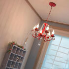 Children's Room Pink Crystal Chandelier Bedroom Dining Room Pendent Lamps Shade