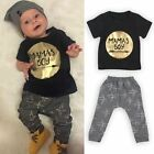 Cute Newborn Baby Boys Cotton Tops Romper Jumpsuit Long Pants Outfits Clothes