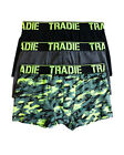 Boys Tradie 6 Pack Cotton Fitted Boxer Shorts Trunks Camo Design (SK3)