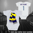 Scotland Rugby Football Scarf  Personalised Baby Grow Vest Gift Kids