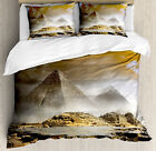 Egyptian Duvet Cover Set with Pillow Shams Ancient Culture Icons Print image