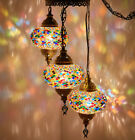 Swag Wall PLUG IN Turkish Moroccan Mosaic Ceiling Hanging Chandelier Light Lamp