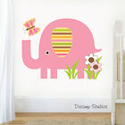 Elephant Nursery Decal Safari Animal Wall Art Baby Girl Jungle Mural Stickers