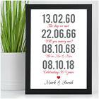 Personalised 50th Golden Wedding Anniversary Gifts Memorable Dates Print Gifts