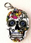 Sugar Skulls A Acrylic Double-Sided Zipper Pull Purse Charm Dangle Jewelry
