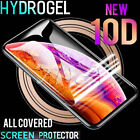 Hydrogel Clear Full Coverage Screen Protector Apple iPhone 7 Plus X XS Max XR