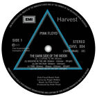 Pink Floyd; Dark Side Of The Moon. Record Label Vinyl Stickers.