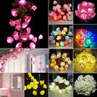 2M 20 LED Rose Flower Wedding Party Christmas String Fairy L