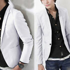 Men's Formal Slim Fit One Button Suit Blazer Business Coat Jacket Casual Tops