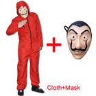 Salvador Dali Money Heist La Casa De Papel Jumpsuit Fancy Dress Costume + Mask