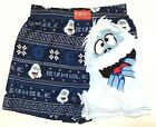 Mens Bumble Rudolph The Red Nosed Reindeer Christmas Holiday Blue Knit Boxer S M