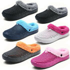 Unisex Whiter Mens womens clogs close toes slippers Fur Lined hollow out mules