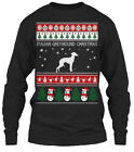 Italian Greyhound Dog Ugly Sweater S - Christmas Gildan Long Sleeve Tee T-Shirt