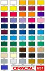 12' Oracal 651 Vinyl  5 ft long- Choose any color