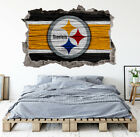Pittsburgh Steelers Wall Art Decal 3D Smashed Kids Bedroom Wall Decor WL148 on eBay