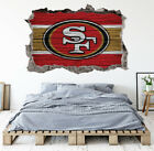 San Francisco 49ers Wall Art Decal 3D Smashed Kids Bedroom Wall Decor WL150 on eBay