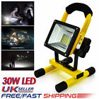 30W COB LED Rechargeable Cordless Thin Portable Work Site Flood Light Camping UK
