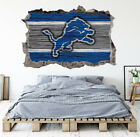 Detroit Lions Wall Art Decal 3D Smashed Football Kids Wall Decor WL169 on eBay