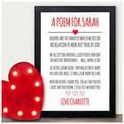 Personalised Best Friends Poem Christmas Birthday Gifts for Friends Sister Her