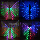 USA colour LED isis wings belly dance light up show cosplay prop sticks