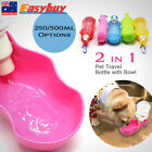 New Portable Pet Water Bottle Dispenser for Dog Compact Travel Folding Tray Bowl