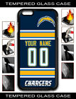 NFL Los Angeles Chargers Custom Name/Number iPhone Tempered Glass Case151606 $10.99 USD on eBay