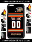 NHL Anaheim Ducks Personalized Name/Number iPhone Tempered Glass Case 162805 $10.99 USD on eBay