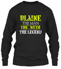Blaine The Man Gildan Long Sleeve Tee T-Shirt