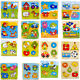 Wooden Puzzle Jigsaw Cartoon Kid Baby Educational Learning Puzzle Toys TPD