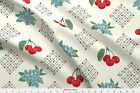 1940 Flowers Cherry Kitchen Vintage 40S Fabric Printed by Spoonflower BTY