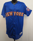 NEW YORK METS MAJESTIC JERSEY STITCH MLB BASEBALL VINTAGE RETRO VTG MESH MENS