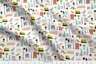 New York New York City Rockettes Empire State Fabric Printed by Spoonflower BTY