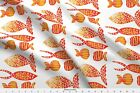 Weird Fish Golden Vivid Sunny Baby Funny Fabric Printed by Spoonflower BTY