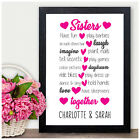 Personalised Sister Gifts for Christmas Birthday Presents for Little Sisters