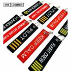Remove Before Flight Launch Key Chain Luggage Tag Embroidery Key Chain USA NEW