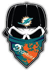 Miami Dolphins NFL Skull Car Bumper Sticker Decal - 3'' or 5'' on eBay