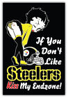 Pittsburgh Steelers NFL Endzone Car Bumper Sticker Decal - 3'' or 5'' on eBay