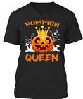 Off-the-rack Pumpkin Queen Fun Cute Halloween Matchin Premium Jersey V-Neck