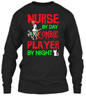 Nurse By Day Zombie Player Night - Gildan Long Sleeve Tee T-Shirt
