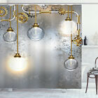 Industrial Shower Curtain Steampunk Antique Print for Bathroom