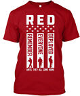 Gunshowtees Mens Red Friday Remember Ev - Everyone Hanes Tagless Tee T-Shirt