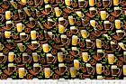Funny Fall Drinking Beer Octoberfest Bratz Fabric Printed by Spoonflower BTY